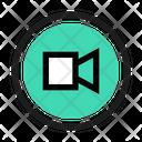 Video Camera Square Retro Icon