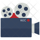 Video camera with reels Icon