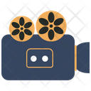 Video Camera With Yellow Reels Camera Video Icon