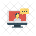 Video Chat Bubble Message Icon