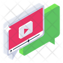 Video Message Video Chat Video Communication Icon