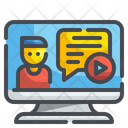 Video Chat Computer Monitor Icon