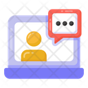 Online Communication Online Conversation Video Chat Icon