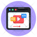 Web Chat Video Chat Online Chat Icon