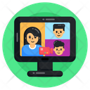 Virtual Chat Video Chat Online Conversation Icon