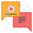Video Chat Video Message Video Conversion Icon
