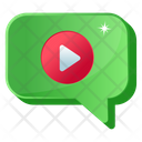 Video Chat Video Message Video Text Icon