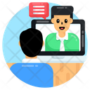 Video Call Video Chat Online Chat Icon