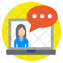 Video Chat Communication Icon