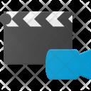 Video Clapper Camera Icon