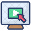 Video Click Digital Marketing Video Streaming Icon