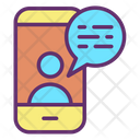 Video Communicationm Video Communication Mobile Chat Icon