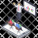 Web Conference Video Presentation Webinar Icon
