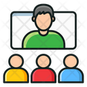 Video Learning Video Conference Video Lecture Icon