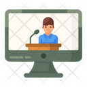 Video Speech Video Conference Video Lecture Icon