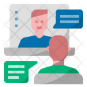 Virtual Meeting Video Conference Video Call Icon