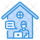 Home Work From Home Chat Icon