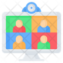 Video Conference Online Icon