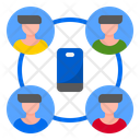 Mobilephone Worker Work From Home Icon