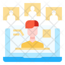 Screen Share Meeting Call Icon