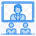 Video Conference Video Learning Video Lecture Icon
