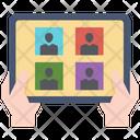 Virtual Communication Online Icon