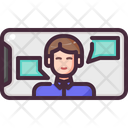 Conference Meeting Video Chat Icon
