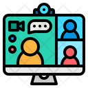 Webcam Video Conference Icon