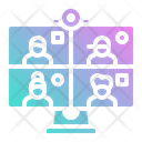 Videoconference Meeting Video Icon