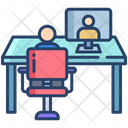 Video Conference Online Interview Video Call Icon