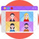 Video Call Streaming Video Chat Icon