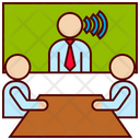Video Conference Distance Icon