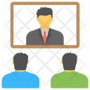 Telepresence Video Conferencing Icon