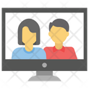 Video Conferencing Video Calling Live Video Icon