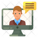 Video Conferencing Video Call Online Consultation Icon