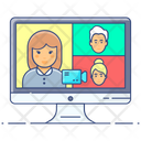 Video Conferencing Video Chat Online Video Call Icon