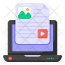 Online Document Video Content Video File Icon