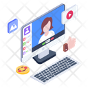 Online Streaming Live Video Streaming Video Content Icon