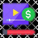 Monetization Video Earning Earning Icon