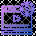 Video Earning Monetize Earning Icon