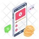 Mobile Video Earning Monetization App Video Earning App Icon