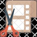 Video Editing Film Editing Film Reel Cutting Icon