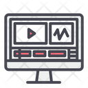 Video Computer Editing Icon