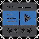 Video Editor Video Webpage Icon