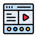 Webpage Browser Video Icon