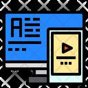 Monitor Smartphone Screen Icon