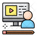 Learning Online Education Online Class Icon