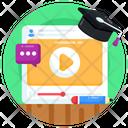 Video Tutorial Video Education Video Marketing Icon