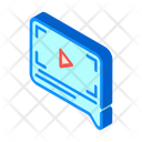 Video Review Isometric Icon