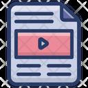 Video File File Format Mp 3 File Icon